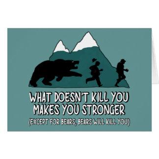 Funny bears card