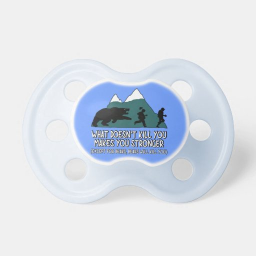 Funny bears pacifiers