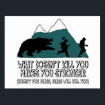 "Funny bears postcard<br><div class=""desc"">Funny bears meets funny bears saying T shirt and funny bear gifts for fans of funny gifts featuring a funny bear saying and bear image.</div>"