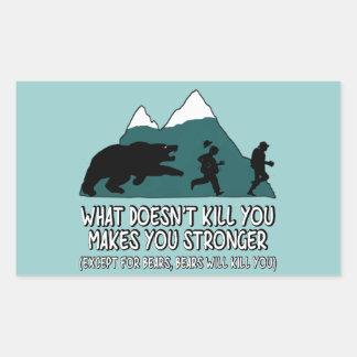 Funny bears rectangle sticker