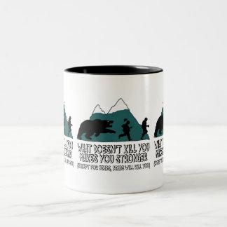 Funny bears Two-Tone coffee mug