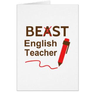 Funny English Teacher Cards   Zazzle English Teacher Funny