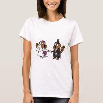 Funny Beaver Bride and Groom Wedding T-Shirt