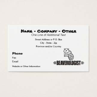 Funny Beaver Business Card