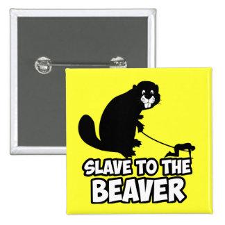 Funny Beaver 2 Inch Square Button
