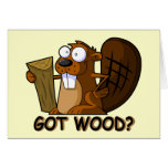 Funny Beaver Cards