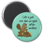 Funny Beaver Do-It-Yourselfer 2 Inch Round Magnet