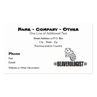 Funny Beaver Double-Sided Standard Business Cards (Pack Of 100)