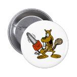 Funny Beaver Pinback Button