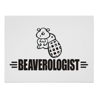 Funny Beaver Poster