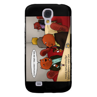 Funny Beavers 3G I by Londons Times Galaxy S4 Cases