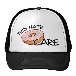 Funny Bed Hair Don't Care | Pink Donut (Doughnut) Trucker Hat