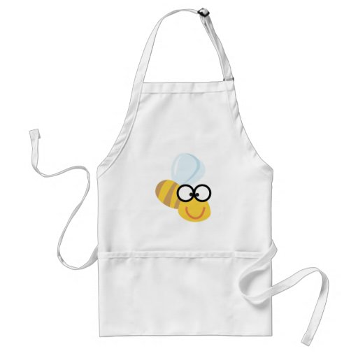funny bee apron