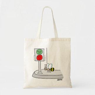 Funny Bee Cartoon Tote Bag