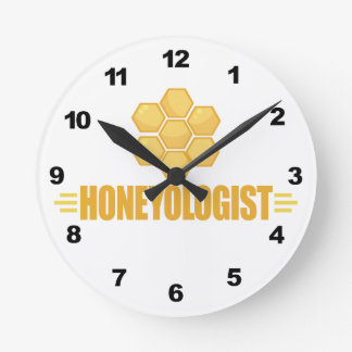 Funny Beekeeper Round Clock