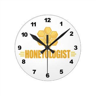 Funny Beekeeper Round Clock