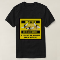 Funny Beekeeper Running Bee Bees Mens T-shirt
