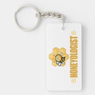 Funny Beekeeper Single-Sided Rectangular Acrylic Keychain