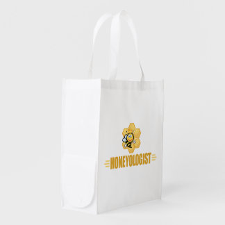 Funny Beekeeper Grocery Bags