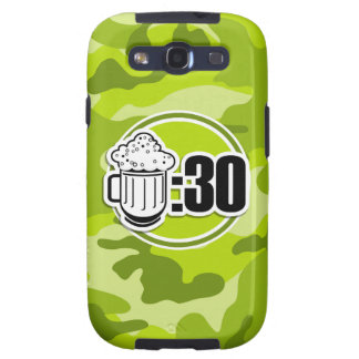 Funny Beer : 30, bright green camo, camouflage Galaxy S3 Covers
