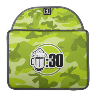 Funny Beer : 30, bright green camo, camouflage Sleeve For MacBook Pro