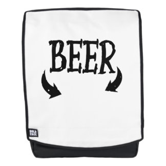 Funny Beer Baby  Mens Matching Pregnancy Backpack