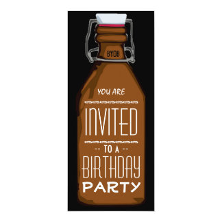 Funny Beer Bottle Birthday Party Invitation