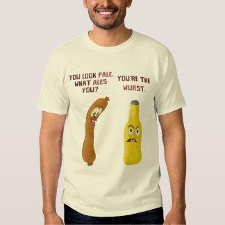 Funny Beer Bratwurst Pun Pale Ale Wurst Tee Shirt