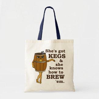 Funny Beer Brewer Budget Tote Bag