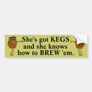 Funny Beer Brewer Bumper Sticker