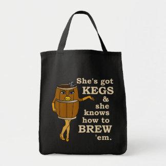 Funny Beer Brewer Grocery Tote Bag
