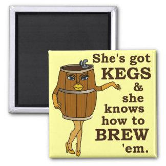 Funny Beer Brewer Fridge Magnet