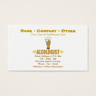 Funny Beer Business Card