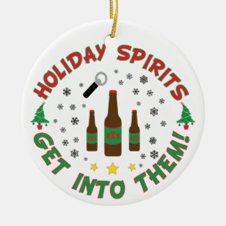 Funny Beer Christmas Ornament