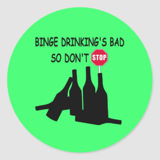 Funny Beer Classic Round Sticker