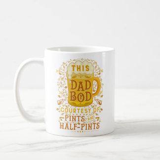 Funny Beer Dad Bod Humorous Fathers Day Joke Coffee Mug