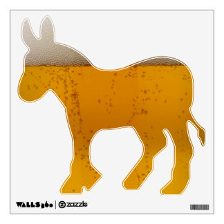Funny Beer Democratic Donkey Wall Sticker