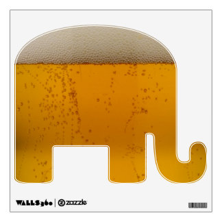 Funny Beer Democratic Elephant Wall Sticker