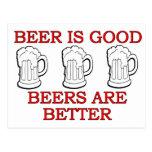 Funny Beer Design Postcard