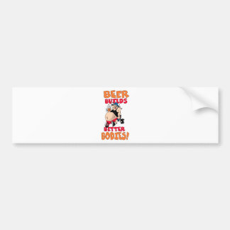 funny beer drinker cartoon bumper sticker