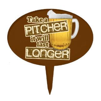 Funny Beer Drinking Humor Cake Topper