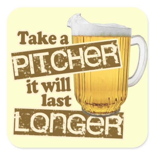 funny beer drinking humor square sticker zazzle
