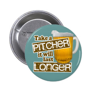 Funny Beer Drinking Parody Button