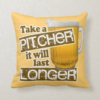 Funny Beer Drinking Parody Throw Pillows
