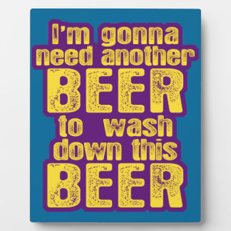 Funny Beer Drinking Photo Plaque
