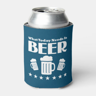 Funny Beer Drinking Quote Can Cooler