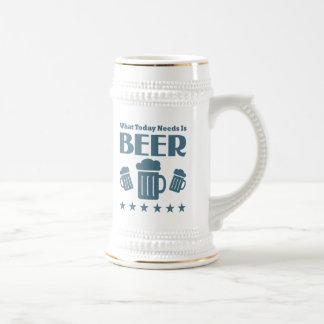 Funny Beer Drinking Slogan Beer Stein