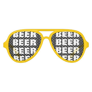 Funny beer drinking team party shades | sunglasses