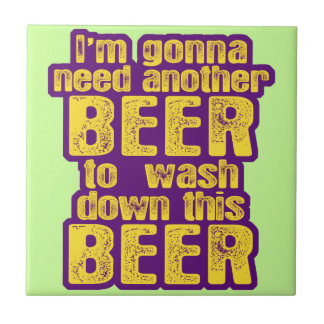 Funny Beer Drinking Tile