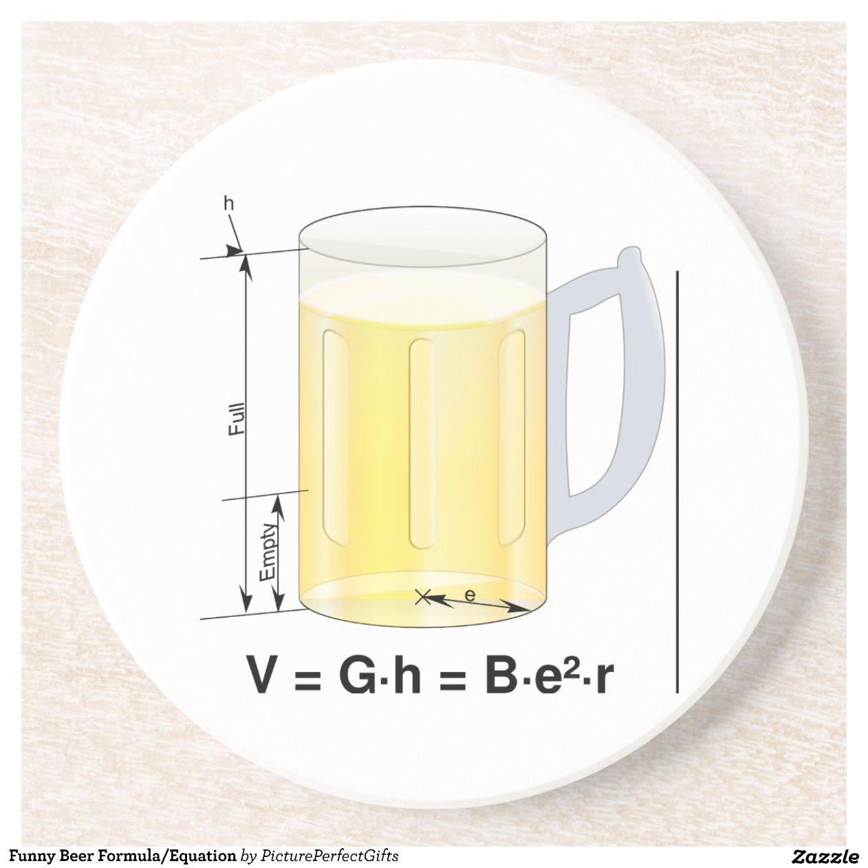 Funny Beer FormulaEquation Volume Of A Cylinder Formula